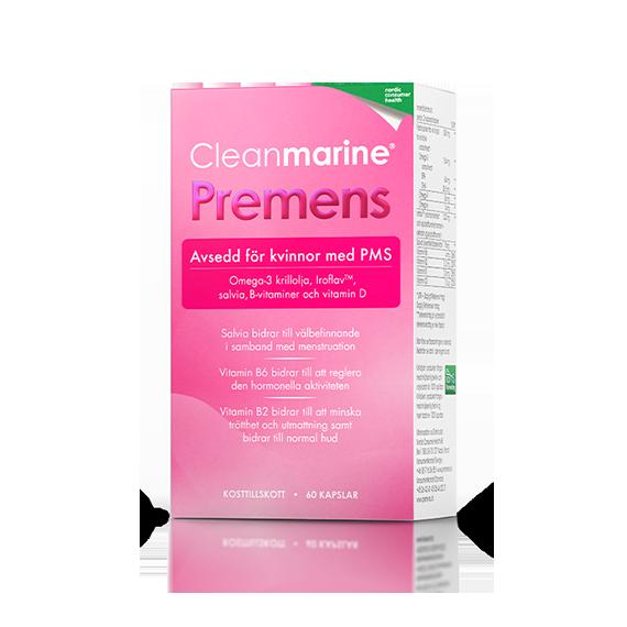 Premens för kvinnor med PMS. Förpackning med 60 kapslar.